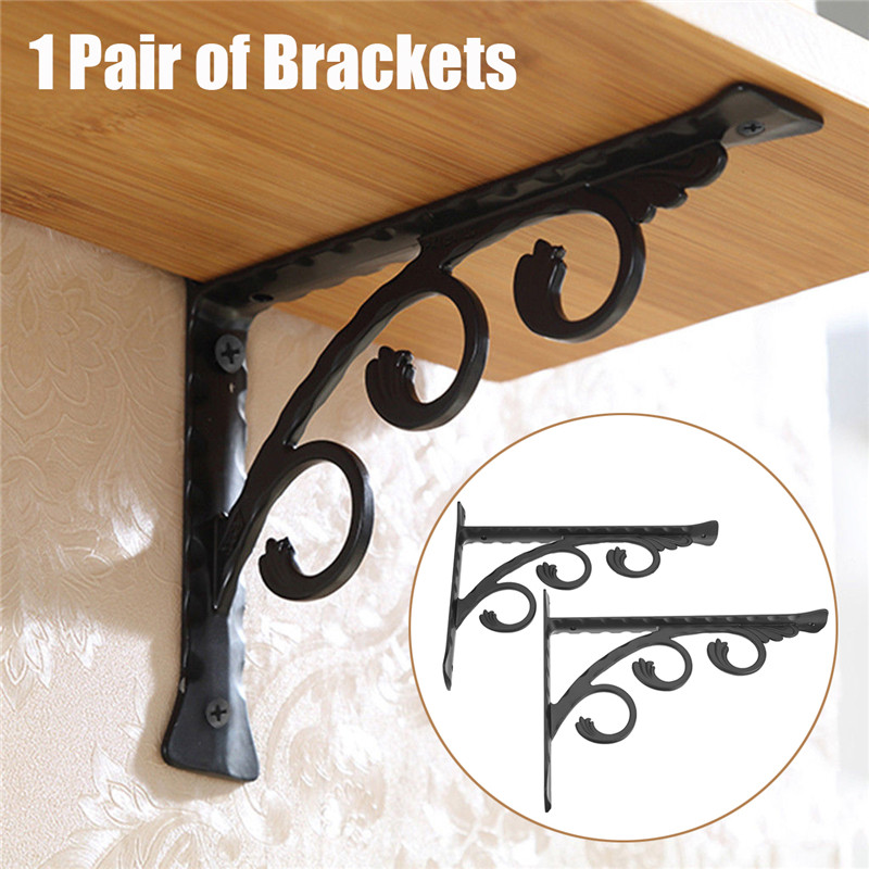 2pcs Aluminum Shelf Bracket L Shape Thickened Corner Brace Shelf Right Angle Bracket For Commodity Furniture Fittings Hardware