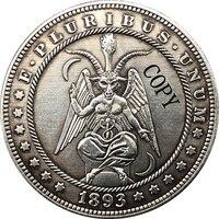 Hobo níquel 1893-s eua morgan dólar moeda tipo de cópia 160