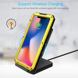 Image 5 - Funda de teléfono resistente al agua IP68 de aluminio y Metal de lujo, a prueba de golpes, para iPhone SE 2 11 Pro Max XR 6X6S 7 8 Plus XS Max