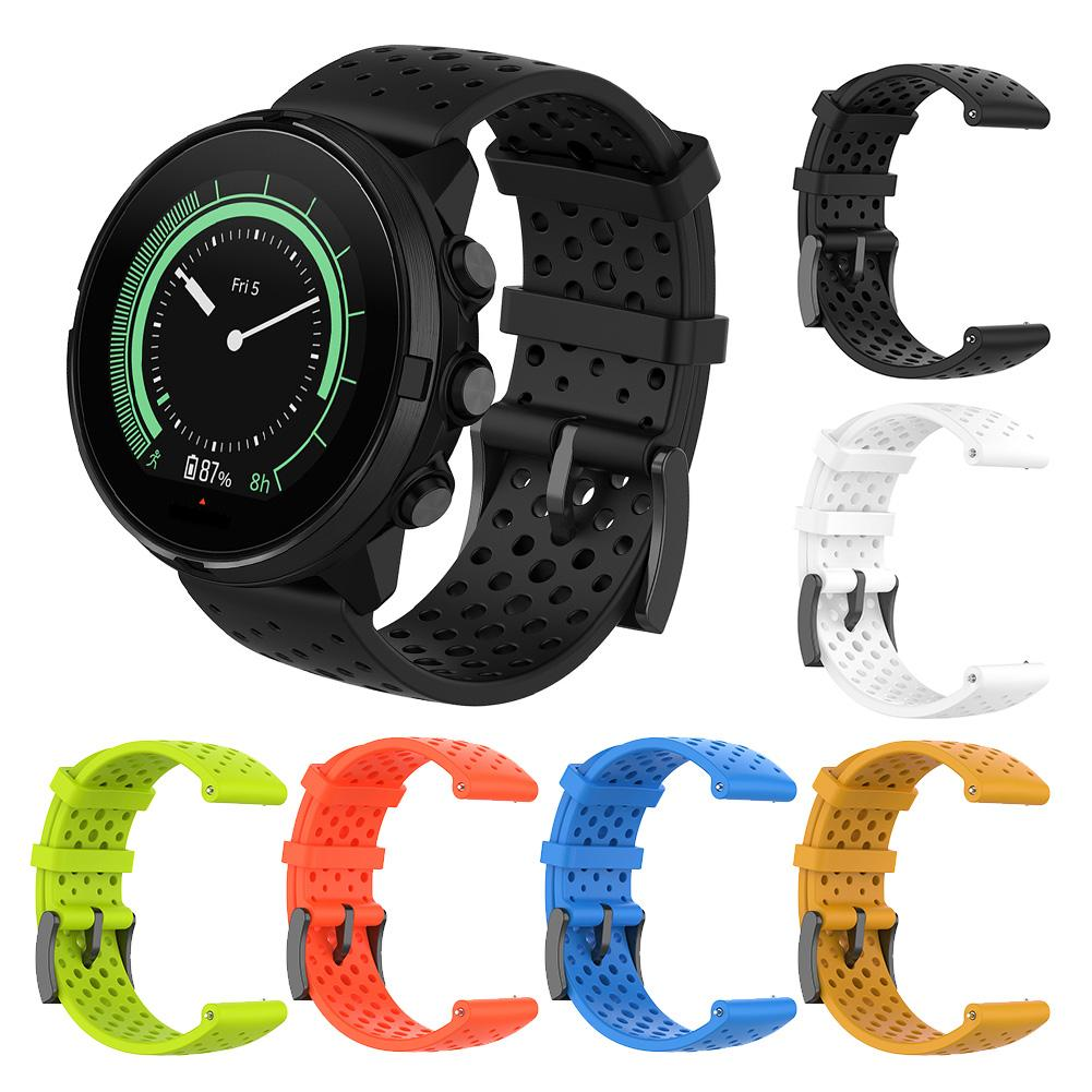 Silicone Replacement Strap For Suunto 9 Soft Watch Band Accessories For Suunto Baro Smart Watch 22MM Band