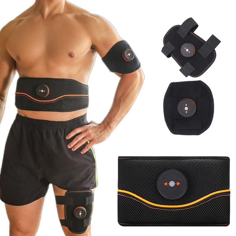 New Rechargeable Intelligent EMS Abdominal Trainer Electric Muscle Stimulators Vibration Body Slimming Belt Fat Burning Workout image