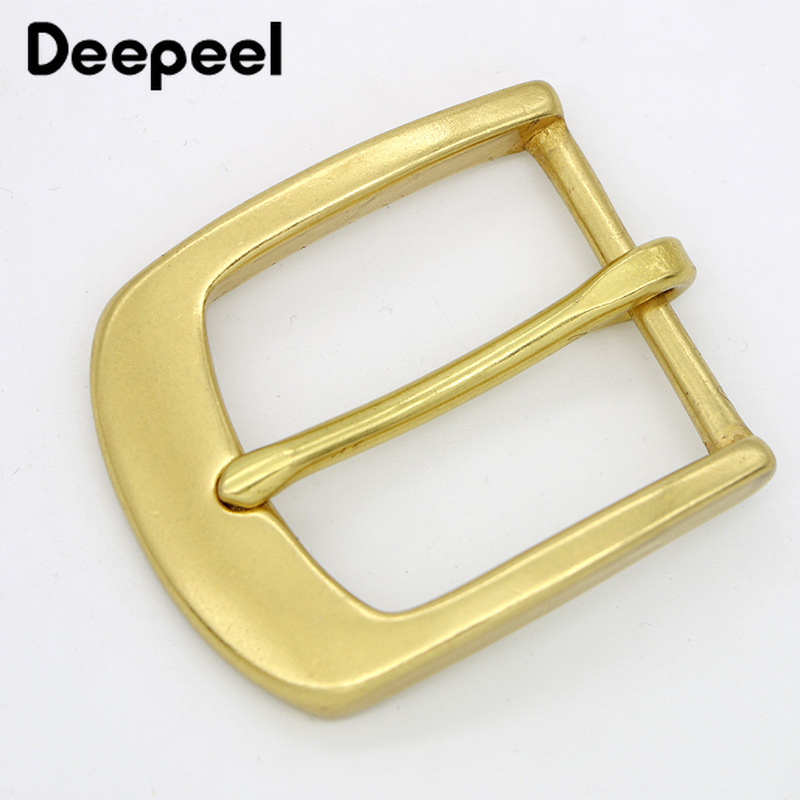 Deepeel 1pcs 40mm Fashion Pure Copper Belt Buckle Head For 38mm Belt DIY Men's Simple Casual Leather Craft Decoration BD440