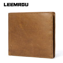 New Retro Men Short Wallet 100% Leather Hand Leather Leather Multifunction Fashion Wallet Coin Pocket Photo Card Pack