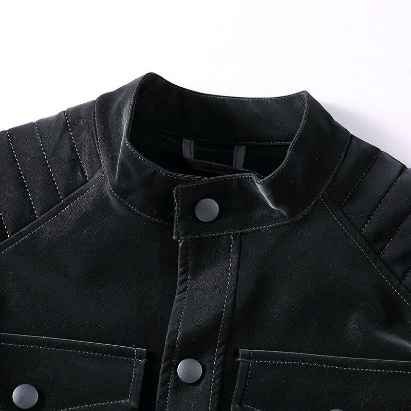 Мужская верхняя одежда зимняя модная мужская одежда Брендовые мужские куртки и пальто 5XL дизайнерские Куртки из искусственной кожи в стиле ... - 4