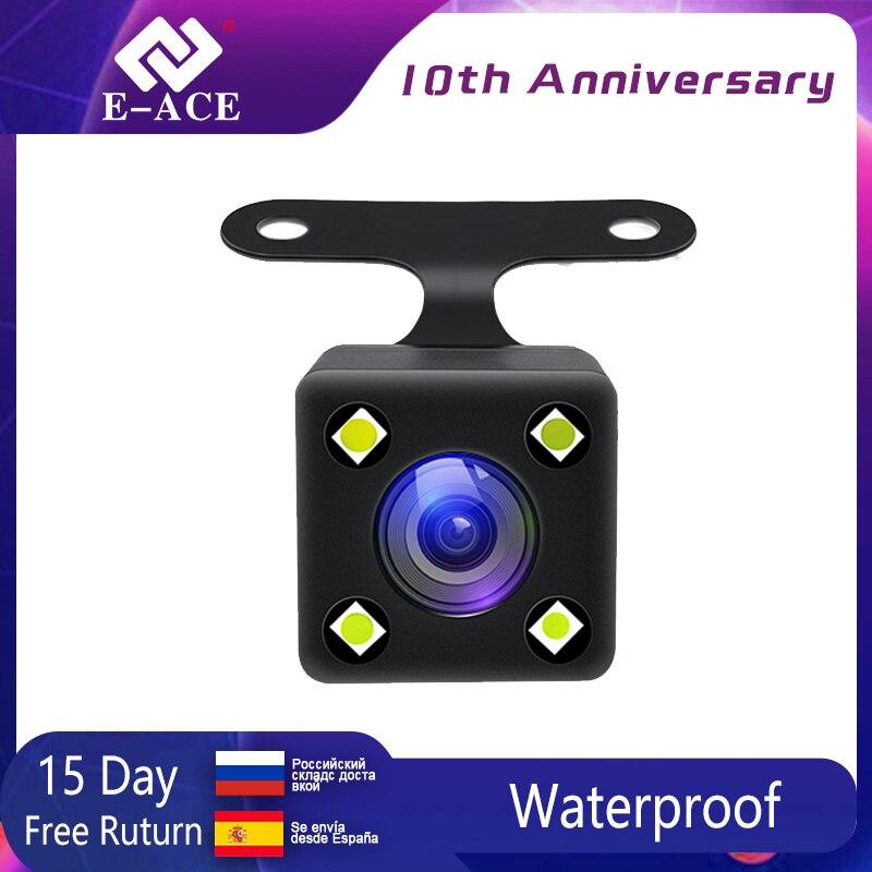 E-ACE vista trasera de coche cámara de copia de seguridad de cámara de estacionamiento de marcha atrás 4 led de visión nocturna resistente al agua cámara trasera para E-ACE Dvr