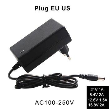 21V 1A 8.4V 2A 12.6V 1.5A 16.8V 2A Lithium Battery Charger Dc 5.5 Mm Eu/us Plug 110-220V Li-Ion Batterij Wall Charger