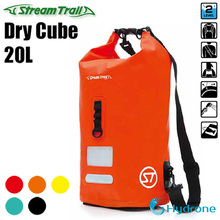 Stream Trail Waterproof Outdoor Dry Cube 20L Dry Bag Sack Water Resistant Roll-Top Closure cheap streamtrail