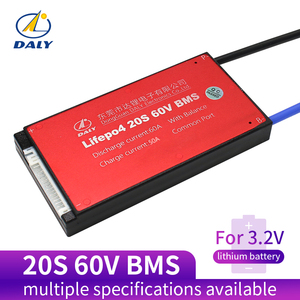 Daly 20S BMS 60V LiFePO4 battery Management System BMS 30A 40A 50A 60A with low current for lithium battery(China)