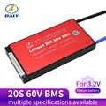 Sistema de gestão bms 30a 40a 50a 60a da bateria de daly 20 s bms 60 v lifepo4 com baixa corrente para a bateria de lítio