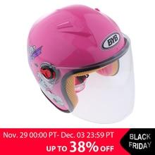 1 Piece Kids Children Open Face Helmet Motorcycle Helmet Cut