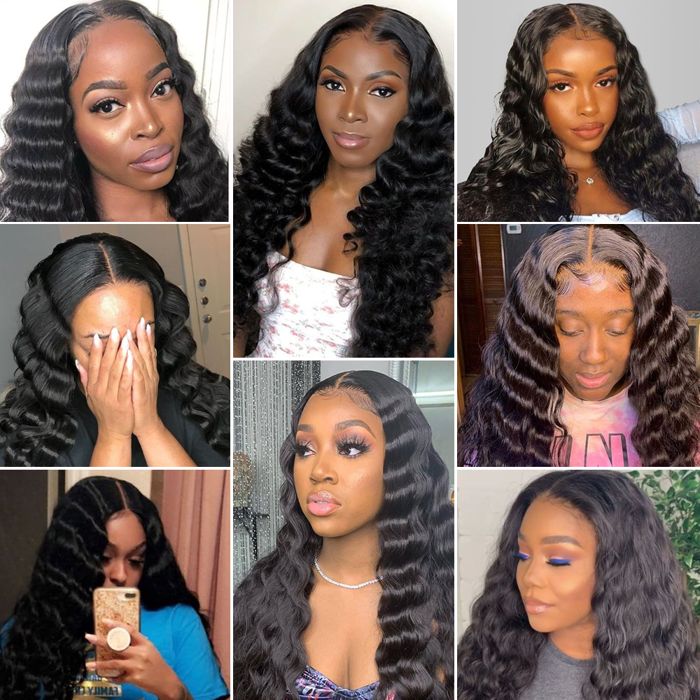 Loose Deep Wave Lace Front Wig 100%  Wigs Arabella  Hair Lace Frontal Wig Pre Plucked Lace Deep Curly Closure Wig 5
