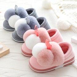 Jesień/zima-wygodne i modne buty-dla dzieci w domu kapcie dla dzieci dla dzieci z bawełny dziewczynek pluszowe aksamitne ciepłe kapcie chłopcy kapcie dziecko przeciągnij
