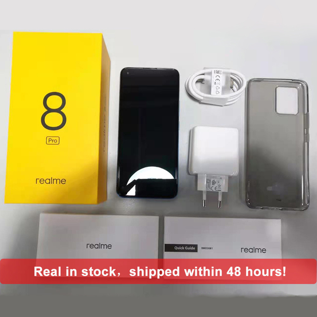 In Stock Global Version Realme 8 Pro Smartphone 8GB 128GB 6.4'' Screen 108MP Ultra Quad Camera Snapdragon 720G 4500mAh 50W NFC 5