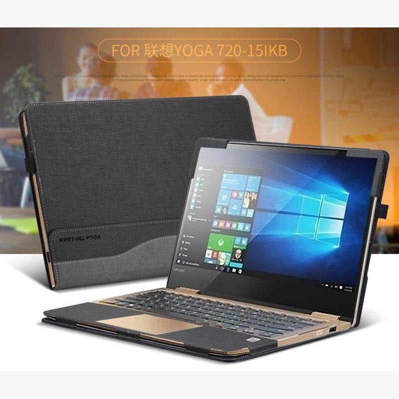Pochette pour ordinateur portable, pour Lenovo YOGA, 720 de pouce, avec Design fendu, housse d'ordinateur portable en cuir de protection pour les cadeaux du Yoga, 15.6, 2017