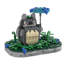 MOC Cute Cat Japan Classic Anime Cartoon Mini Micro DIY Model Building Blocks Bricks Toys For boys Christmas Gifts 261pcs