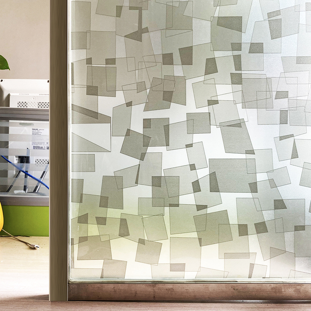 Geometric 3D Window Film Stained Glass Decorative Uv Window Sticker Privacy  Frosted Self Adhesive Film Window Decal for Glass 1