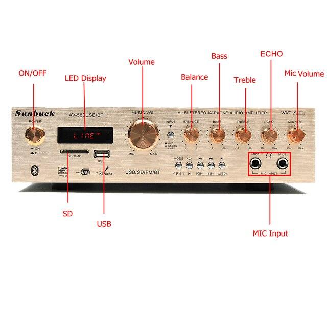 Цифровой усилитель для караоке SUNBUCK AV-580, 4.1, Bluetooth
