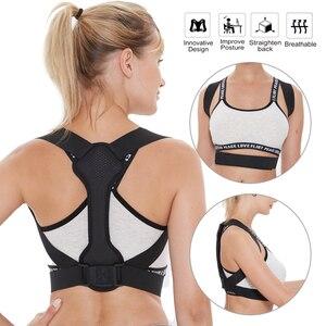 Корректор осанки на спине для женщин и мужчин предотвращает скручивание и облегчение боли в осанке, поддержка ключицы, фиксация боли в спин...