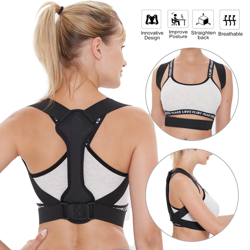 Back Posture Corrector Women Men Prevent Slouching Relieve Pain Posture Straps, Clavicle Support Brace Back Pain Drop Shipping(China)
