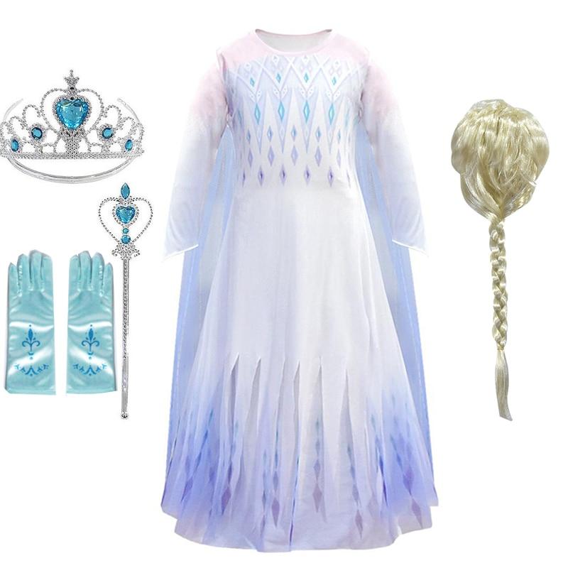 Neve rainha meninas elsa vestido para meninas aniversário fantasiar-se elsa trajes halloween natal anna elsa cosplay princesa vestido