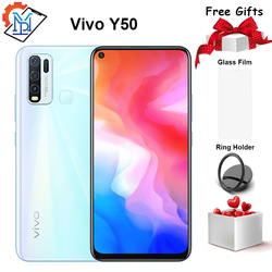 Vivo Y50 смартфон с 5,5-дюймовым дисплеем, восьмиядерным процессором Snapdragon 6,53, ОЗУ 8 Гб, ПЗУ 128 ГБ, Android 10, 665 мАч
