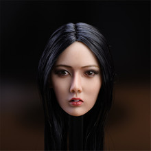 1/6th Scale Head Sculpt Carved Black Hair F 12'' Soldier Figure Body Toy Fit PH Seamless Female Body Doll s02a s06b s09c s18a s19b s20a s21b s22a s23b 1 6 tbleague ph seamless mid large breast bust female body f 1 6 head figure