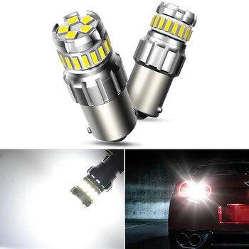 2x dla VW Passat B5 B6 B7 Golf 5 6 7 1156 BA15S P21W LED 7506 samochodów LED światła 1157 P21/5W BAY15D 7443 3157 tworzenia kopii zapasowych rewers żarówka LED