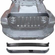 SHINEKA Car Front Hood Protector Bug Deflector Wind Air Deflector Shield Stonesand Block Accessories For Jeep Wrangler JL 2018+