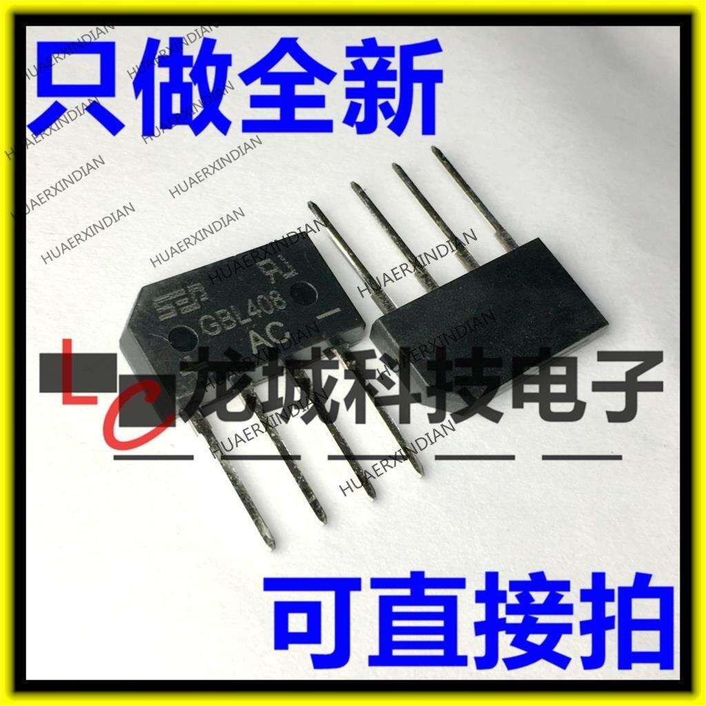 10PCS/LOT NEW  GBL408 GBL08 DIP-4 4A/800V / SEP  In Stock