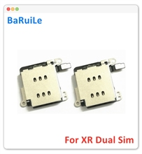 BaRuiLe 5pcs SIM Card Tray slot Socket for iPhone XR Inner Micro SIM Card Reader Adapter Replacement Parts