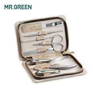 Image 2 - MR.GREEN 8 w jednym zestaw do pielęgnacji zestaw obcinaków do paznokci toe finger zestaw nożyczek ze stalowymi ćwiekami nożyce nożyczki narzędzia do manicure