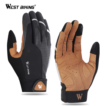 West biking esportes ciclismo luvas de tela sensível ao toque das mulheres dos homens inverno à prova de vento mtb bicicleta da motocicleta esqui luvas de fitness 1