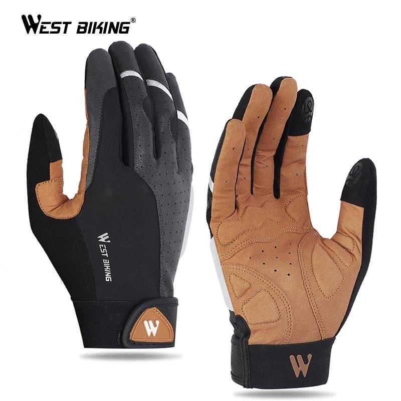 WEST BIKING Cycling Gloves Anti-slip Breathable Men Women Gloves Anti-shock Outdoor Sport MTB Bike Bicycle Motorcycle Gloves