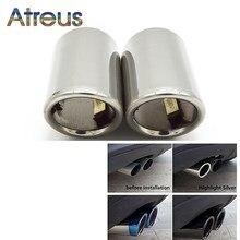 Atreus-Punta de escape para coche, tubo de salida del silenciador para Audi A4, B8, A3, A1 y Q5, Volkswagen Tiguan, Passat B7 y CC, 2 unidades