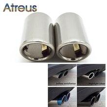 Atreus tubo de escape automotivo, 2 peças de capa silenciadora para audi a4 b8 a3 a1 q5 acessórios para vw tiguan volkswagen passat b7 cc