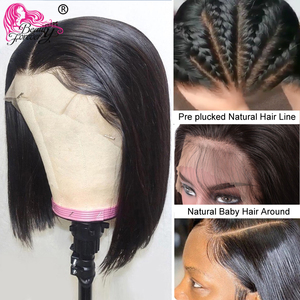 Image 3 - Straight Bob Lace Front Wigs Pre Plucked Hairline Beauty foreve Short Human Hair Wigs Brazilian Straight Lace Front Wig Remy Wig