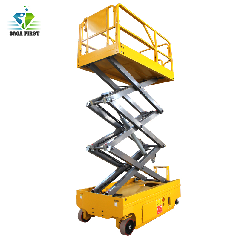 CE Certified High Quality 14m Height Electric Driven Battery Lifting Scissor Lift
