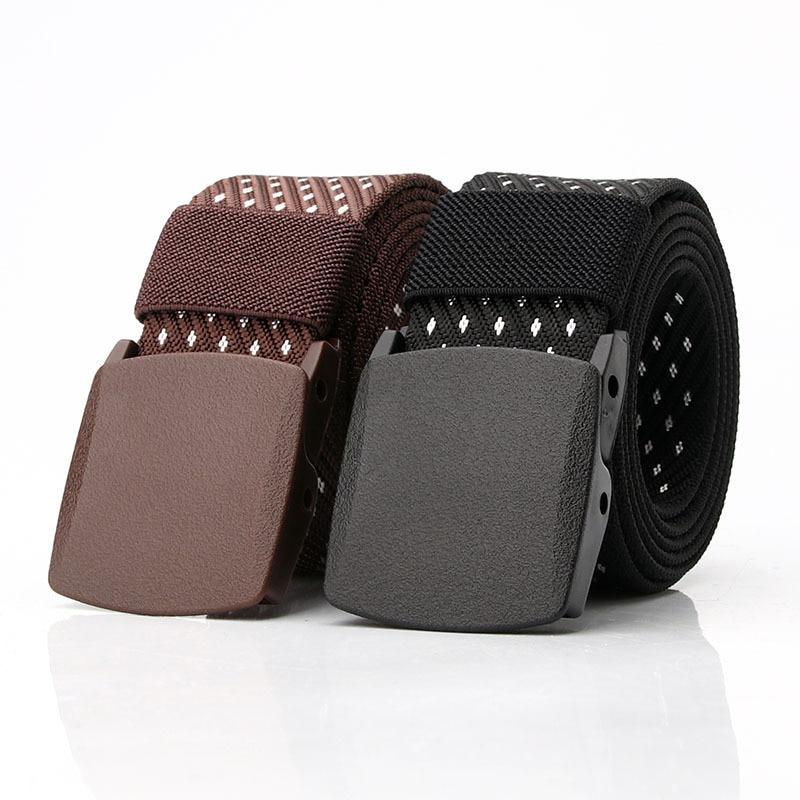 Men Female Belts Military Nylon Adjustable Belt Men EOMEN Outdoor Travel Tactical Waist Belt With Plastic Buckle For Pants 140cm
