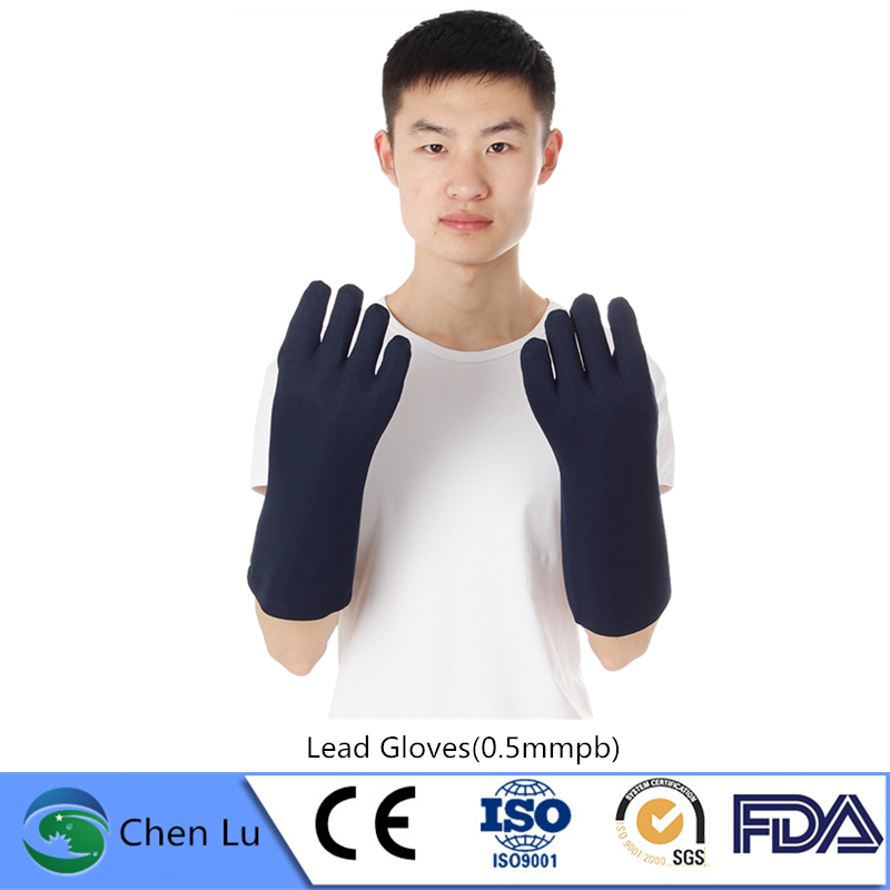 Recommend x ray gamma ray protective high quality lead gloves Nuclear radiation protection 0.5mmpb lead rubber gloves