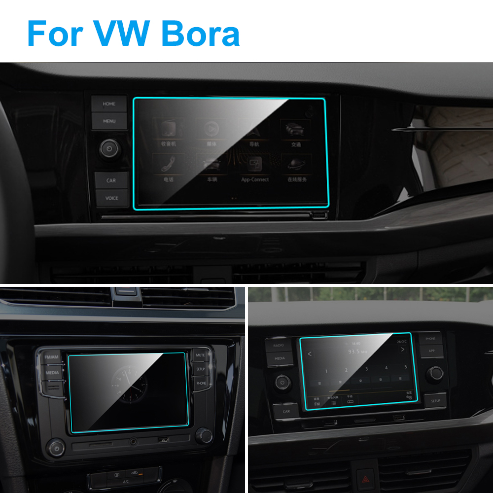 Car GPS Navigation Screen Protector For Volkswagen VW Bora 2016-2020 Auto Interior Tempered Glass Protective Film Accessories
