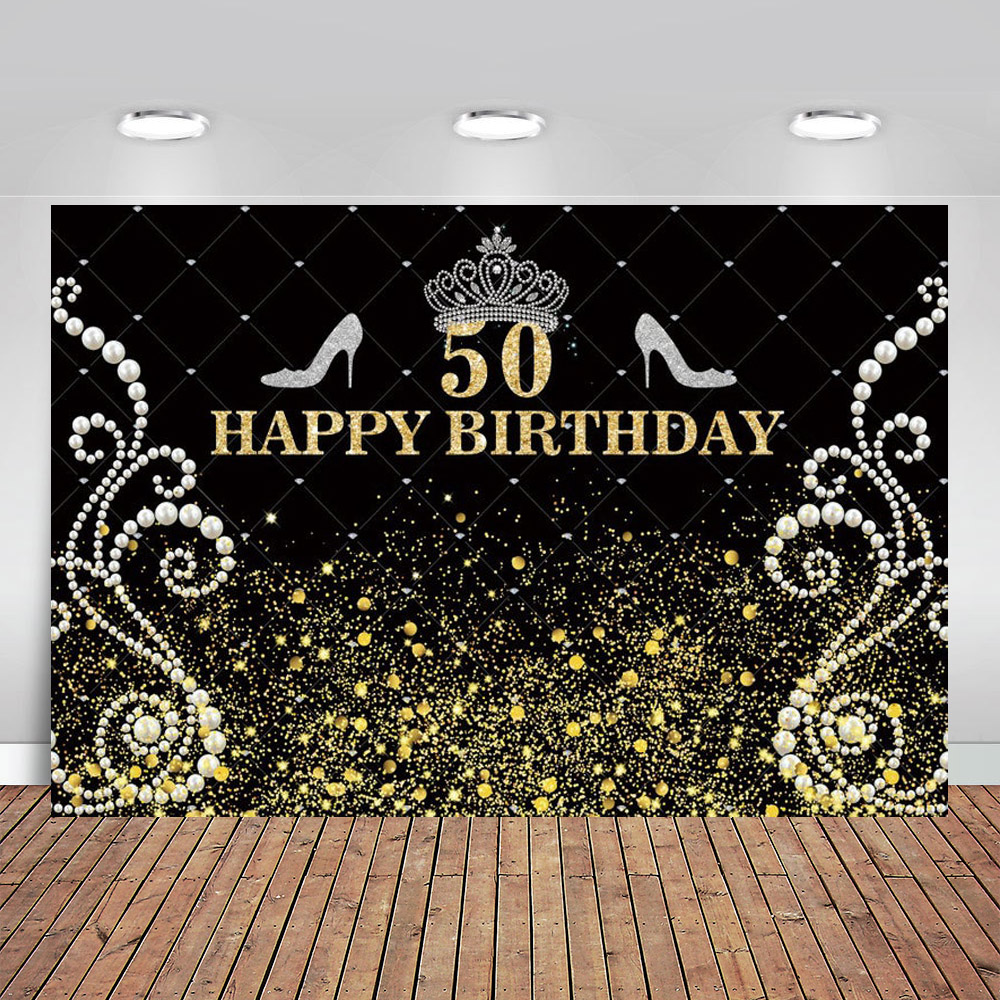 <font><b>Happy</b></font> <font><b>50th</b></font> <font><b>Birthday</b></font> <font><b>Backdrop</b></font> Elegant Lady Photography <font><b>Backdrops</b></font> Platinum Diamond <font><b>Backdrop</b></font> Gold Glitter Sparkly Background image