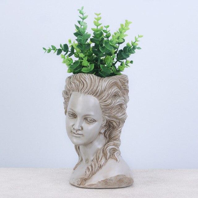 Фото цветочный горшок для суккулентов элегантная греческая богиня