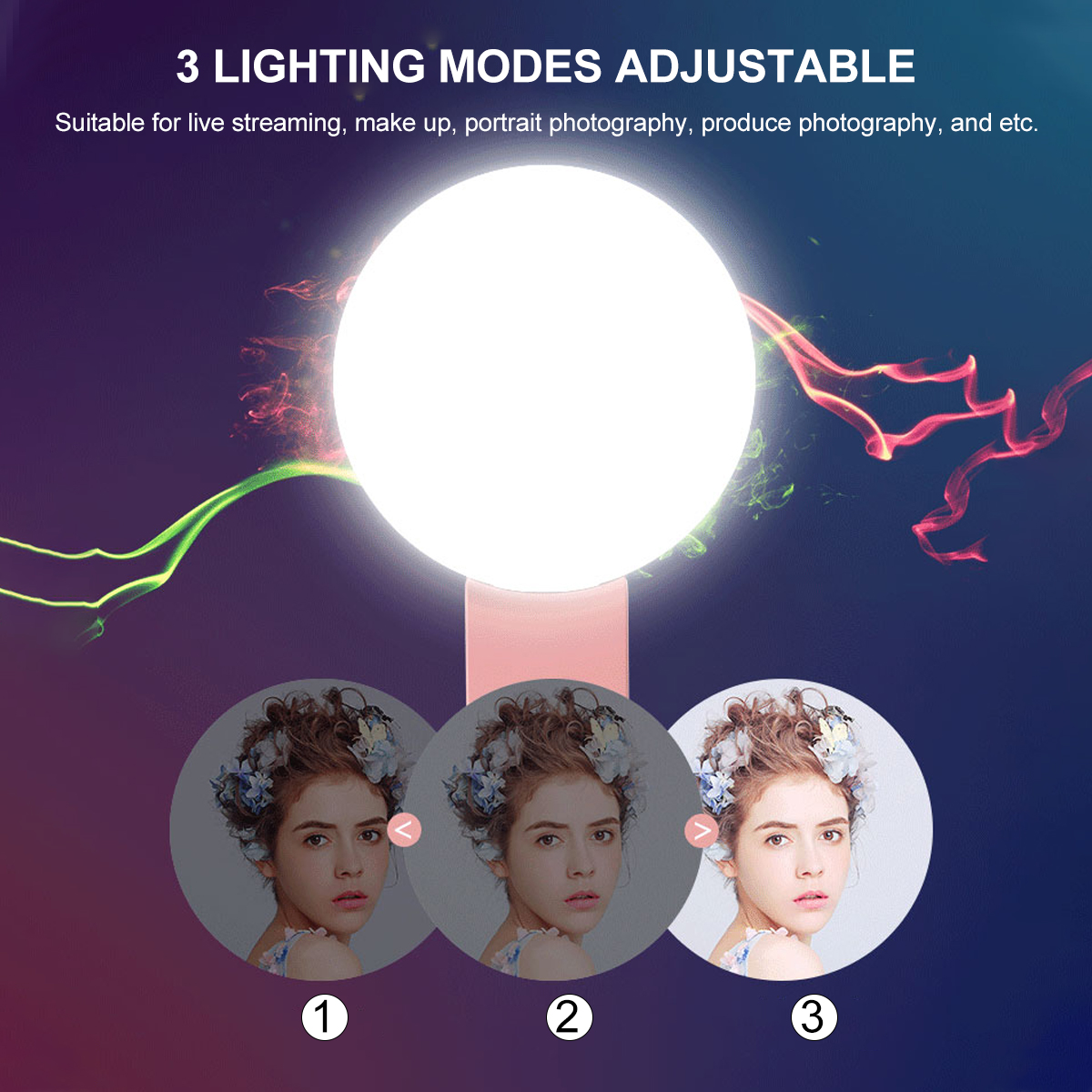 Photography Dimmable Fill Light Selfie Ring Light Youtube Phone Mini LED Video Light Universal for iPhone