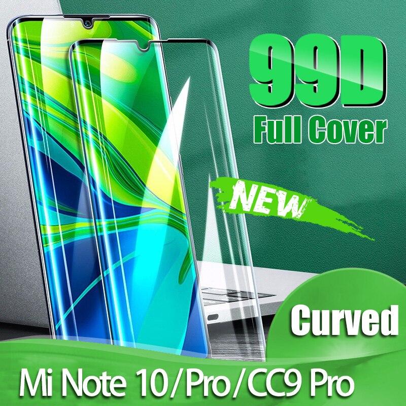 99D Curved Screen Protector For Xiaomi Mi 10 Pro Tempered Glass CC9 Note 10 Pro Protective Film For Mi 9 SE 8 Lite A3 CC9E Glass