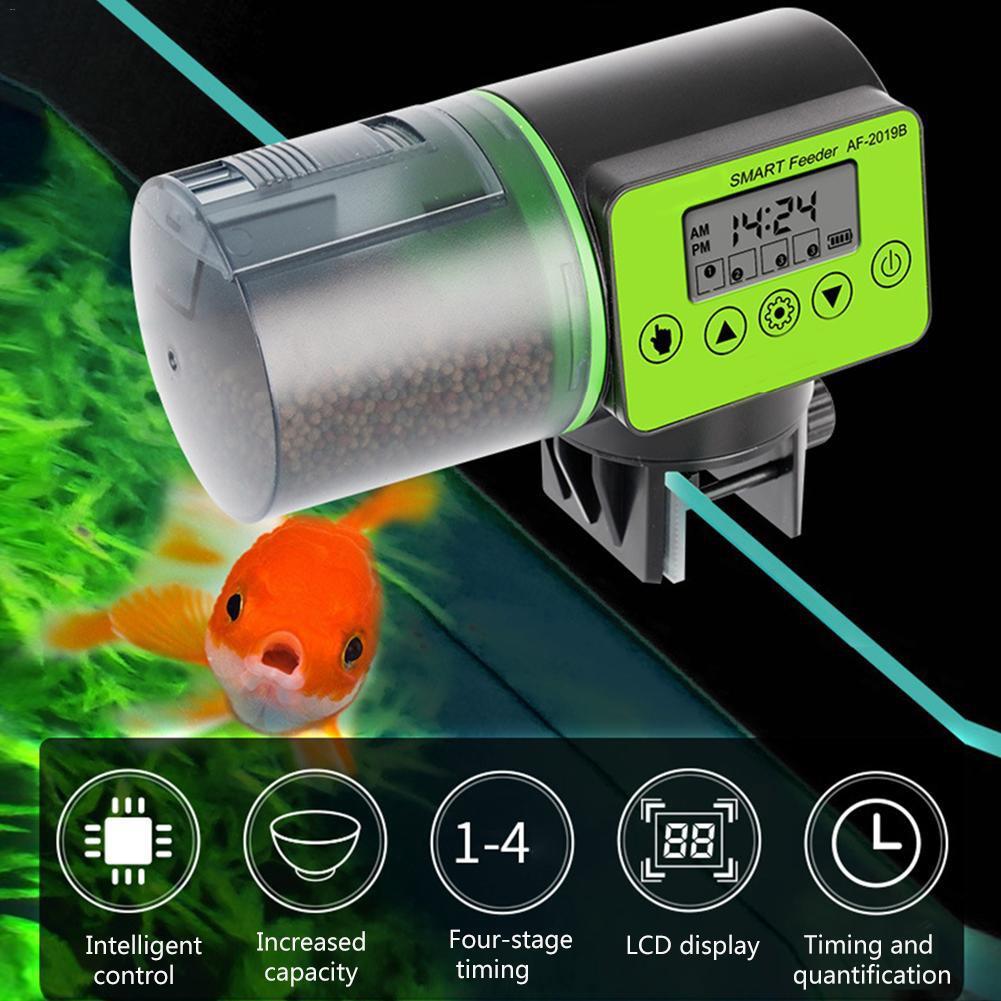 200ml Automatic Fish Feeder For Aquarium Fish Tank Auto Feeders With Timer Pet Feeding Dispenser LCD Indicates Fish Feeder