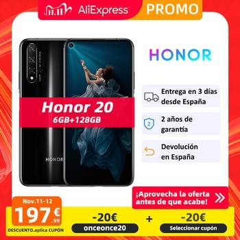 Global Version Honor 20 Smartphone 6G 128G Kirin 980 Octa Core 48MP Four Cameras 6.26'' Mobile Phone SuperChange Google Play NFC