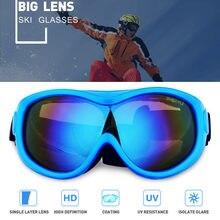 Мужские женские детские лыжные очки для сноуборда противотуманные