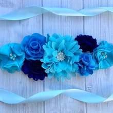 Maternity Sash Boy Blue Maternity Sash Baby Shower Royal /Blue Maternity Sash Blue Pregnancy Sash Fl