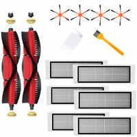 2 Xdetachable Sikat Utama + 4 Xorange 6-Lengan Sisi Sikat + 6 Xfilter + 2 Xcleaning Sikat untuk xiaomi/Roborock S50 S51 S55 S5 S6 Robot Vacuum