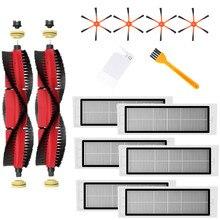 2Xdetachable Belangrijkste Borstel + 4Xorange 6 Arm Side Brush + 6Xfilter + 2Xcleaning Borstel Voor xiaomi/Roborock S50 S51 S55 S5 S6 Robot Vacuüm
